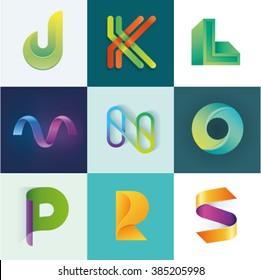 ABC of logo idea set of letters J K L M N O P R S set