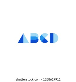 Abcd sign symbol template