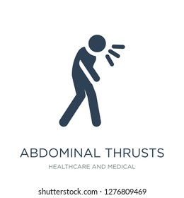 abdominal thrusts icon vector on white background, abdominal thrusts trendy filled icons from Healthcare and medical collection, abdominal thrusts vector illustration