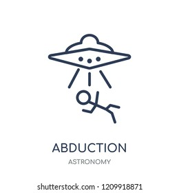 Abduction icon. Abduction linear symbol design from Astronomy collection.