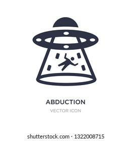 abduction icon on white background. Simple element illustration from Astronomy concept. abduction sign icon symbol design.