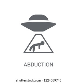 Abduction icon. Trendy Abduction logo concept on white background from Astronomy collection. Suitable for use on web apps, mobile apps and print media.