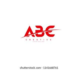 ABE Swoosh Cut Logo Design