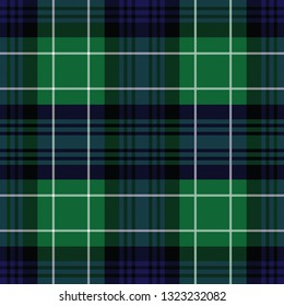 Abercrombie's modern tartan. Element for the seamless construction of pattern of traditional Scottish tartan of Abercrombie's clan for fabric, kilts, skirts, plaids. Frequent, small weaving.