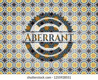 Aberrant arabesque style badge. arabic decoration.