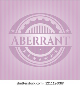 Aberrant badge with pink background