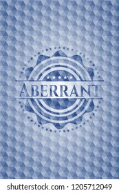 Aberrant blue hexagon badge.