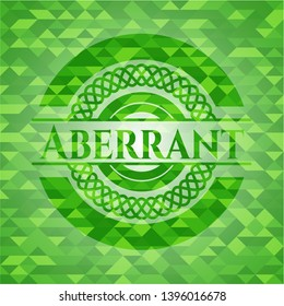 Aberrant green emblem. Mosaic background. Vector Illustration. Detailed.