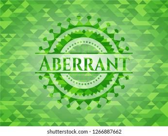 Aberrant green mosaic emblem