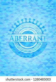 Aberrant light blue emblem. Mosaic background
