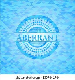 Aberrant light blue emblem with mosaic background
