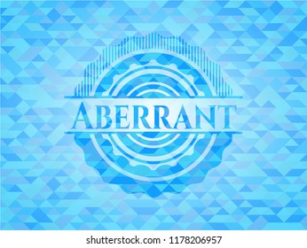 Aberrant light blue mosaic emblem