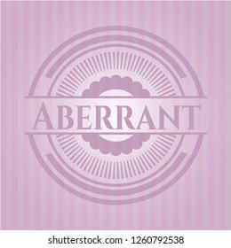 Aberrant realistic pink emblem