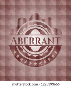 Aberrant red emblem with geometric pattern. Seamless.