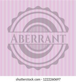 Aberrant retro pink emblem