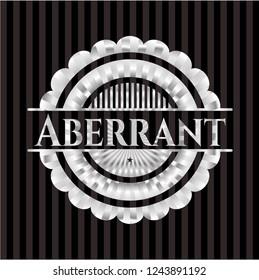 Aberrant silver badge or emblem
