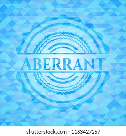 Aberrant sky blue emblem. Mosaic background