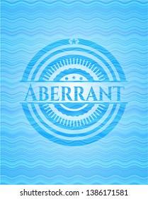 Aberrant sky blue water emblem. Vector Illustration. Detailed.