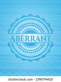 Aberrant water emblem. Vector Illustration. Detailed.