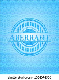 Aberrant water representation style badge. Vector Illustration. Detailed.