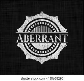 Aberrant written with chalkboard texture