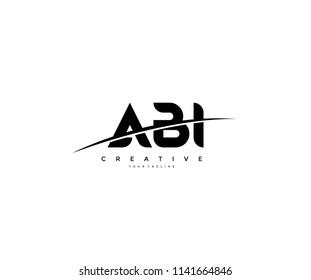ABI Swoosh Cut Logo Design