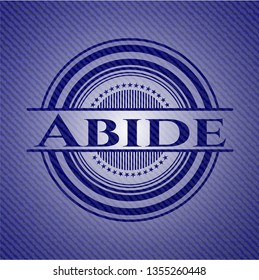 Abide badge with denim texture