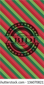 Abide christmas colors style badge.