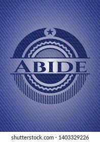 Abide with jean texture. Vector Illustration. Detailed.