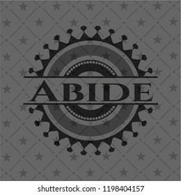 Abide retro style black emblem