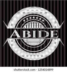 Abide silvery emblem