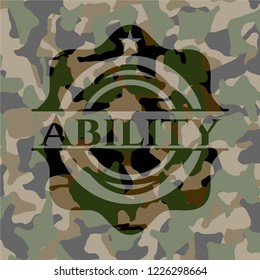 Ability on camo pattern