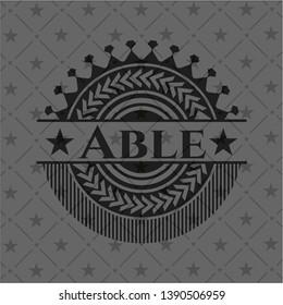 Able black badge. Vector Illustration. Detailed.