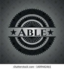 Able black emblem. Vintage. Vector Illustration. Detailed.