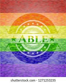 Able lgbt colors emblem