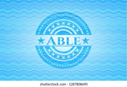 Able water badge background.