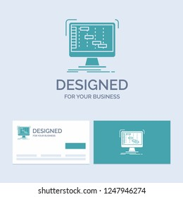 Ableton, application, daw, digital, sequencer Business Logo Glyph Icon Symbol for your business. Turquoise Business Cards with Brand logo template.
