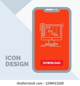 Ableton, application, daw, digital, sequencer Line Icon in Mobile for Download Page