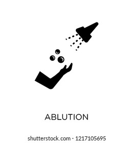 ablution icon. ablution symbol design from Hygiene collection. Simple element vector illustration on white background.