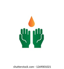 ablutions hands icon design with creative modern concept and simple logo trendy shape style design vector eps 10