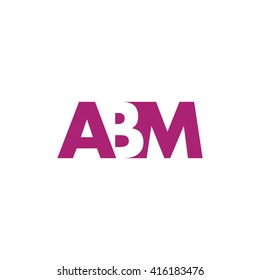 ABM Logo. Vector Graphic Branding Letter Element. White Background