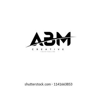 ABM Swoosh Cut Logo Design