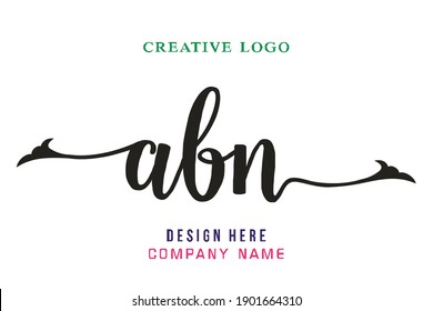 ABN lettering logo is simple, easy to understand and authoritative