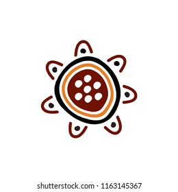 Aboriginal art design logo icon