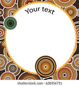 Aboriginal art vector background