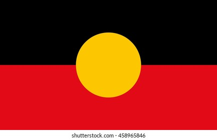 aboriginal of australia flag.