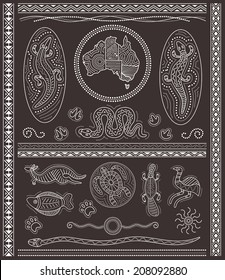 Aboriginal / Australian vector design elements