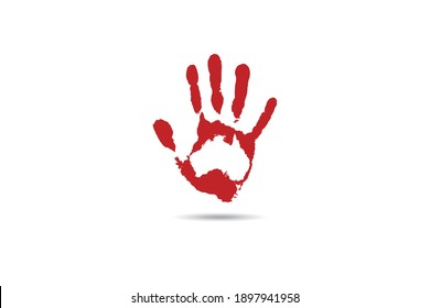 Aboriginal Hand Australia Palm Illustration