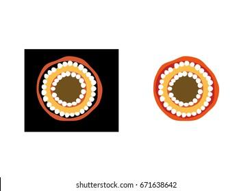 Aboriginal Inspired Sun Icon