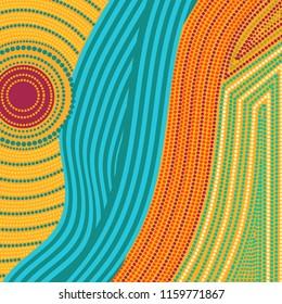 aboriginal style dot pattern